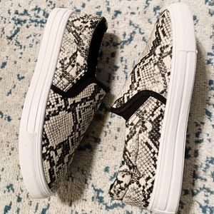 Qupid Shoes - Snake Print Sneakers